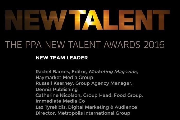 "Being shortlisted for the ""Team Leader of the Year"" category in the PPA New Talent Awards 2016"