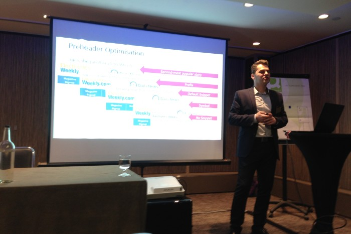 Guest speaker at the Internet Marketing Summit 2016, London