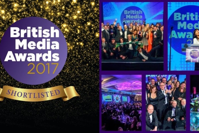 2 Nominations at the British Media Awards 2017